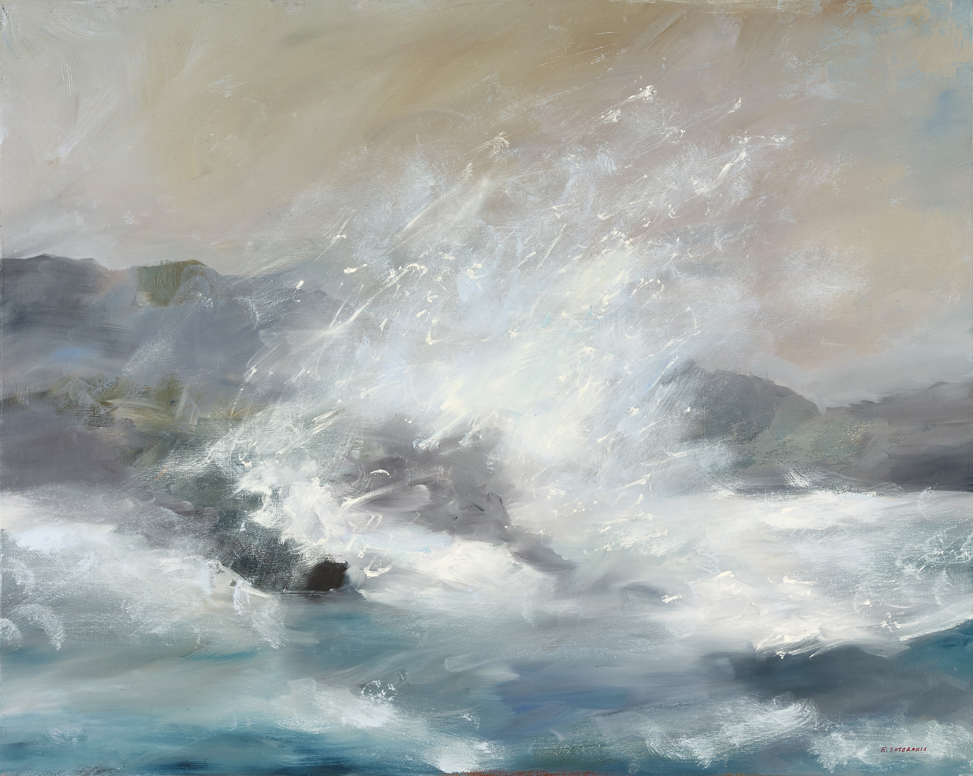 Tumultuous Seas, #6, 2013 oil on panel 24 x 30 in.