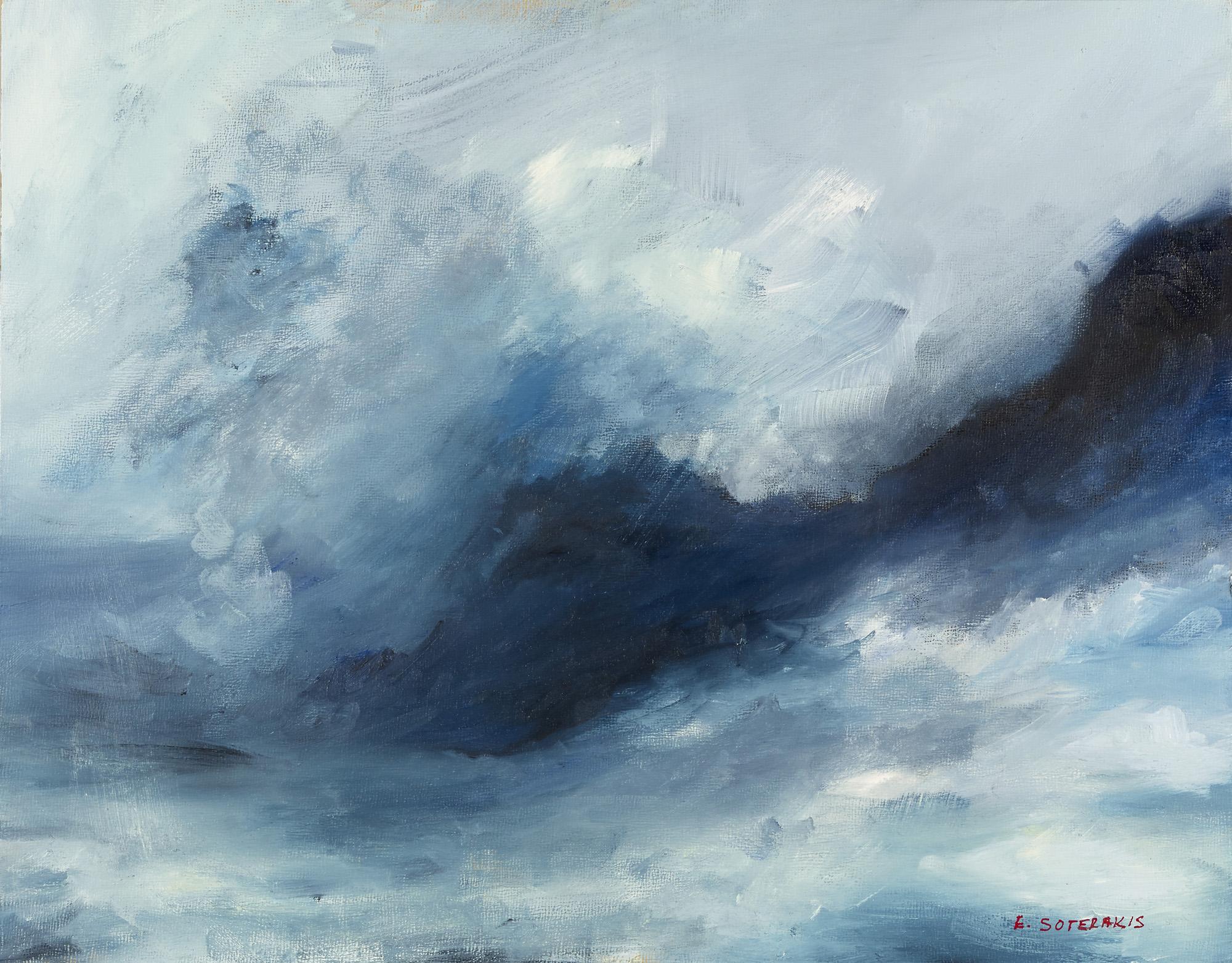 Tumultuous Seas, #4, 2013 oil on panel 9 x 12 in.