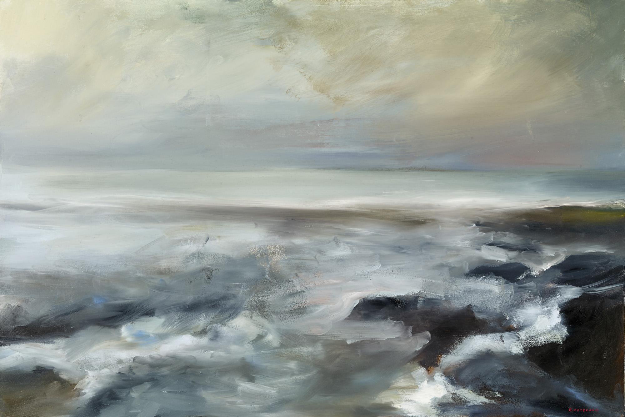 Tumultous Seas, #7, 2013 oil on panel 24 x 36 in.