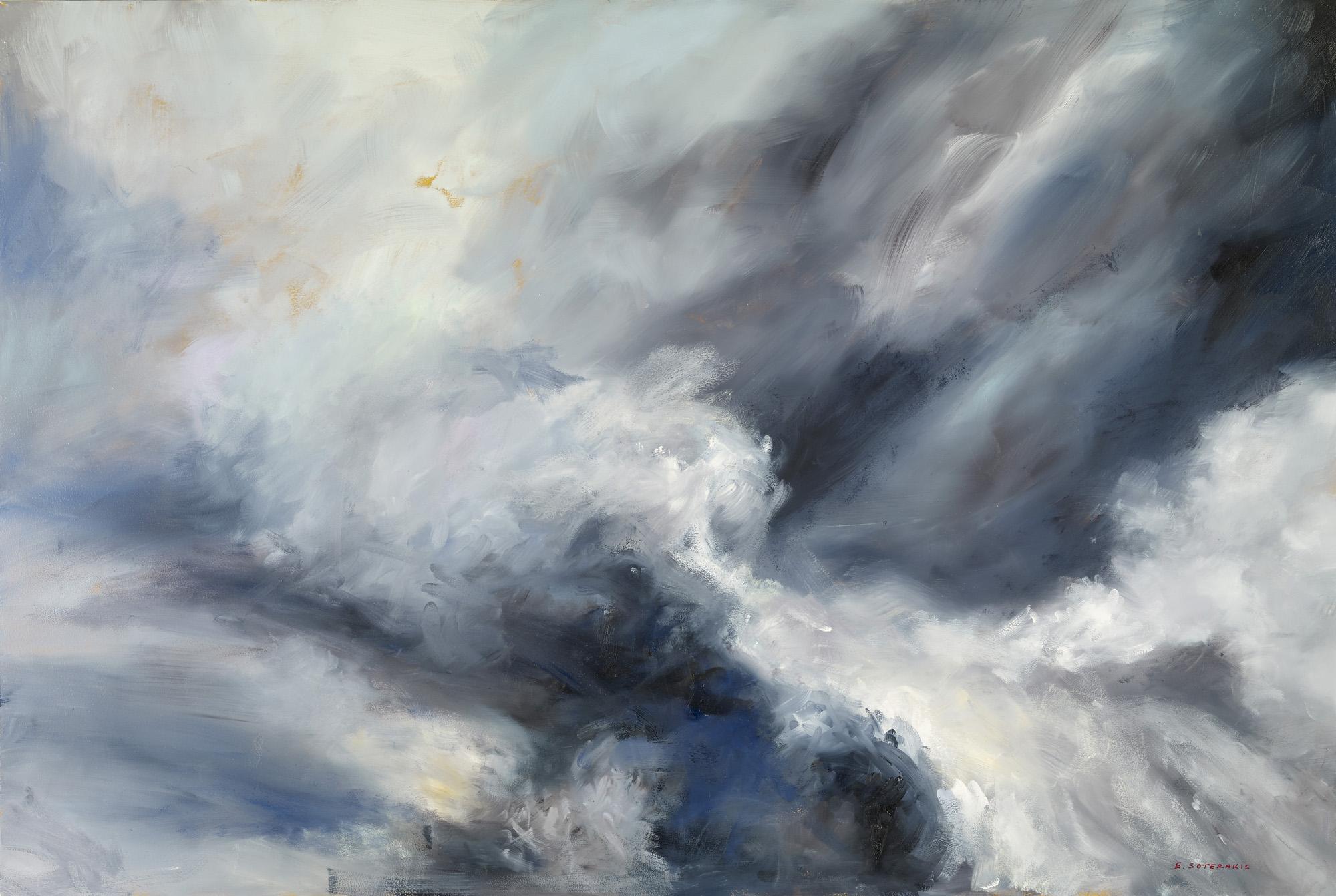 Tumultous Seas, #8, 2013 oil on panel 24 x 36 in.
