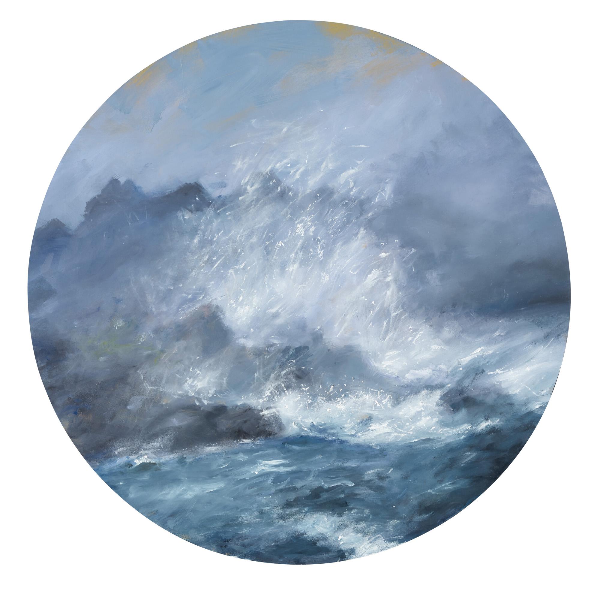 Tumultous Seas, #11, 2013 oil on panel 24 in.