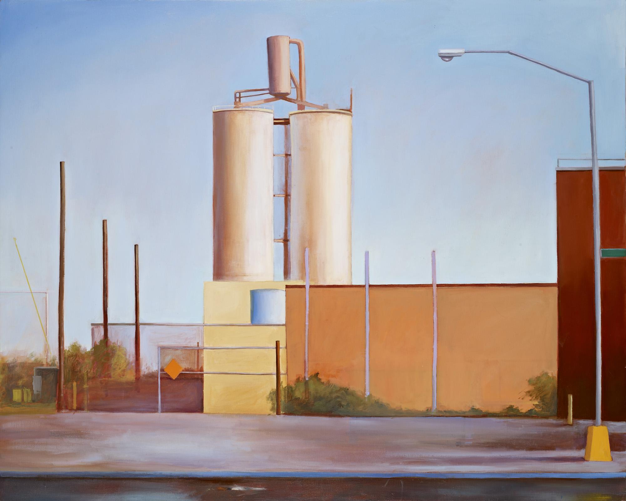 """Power Plant, Sunset Park Oil on linen 40"""" x 50"""""""
