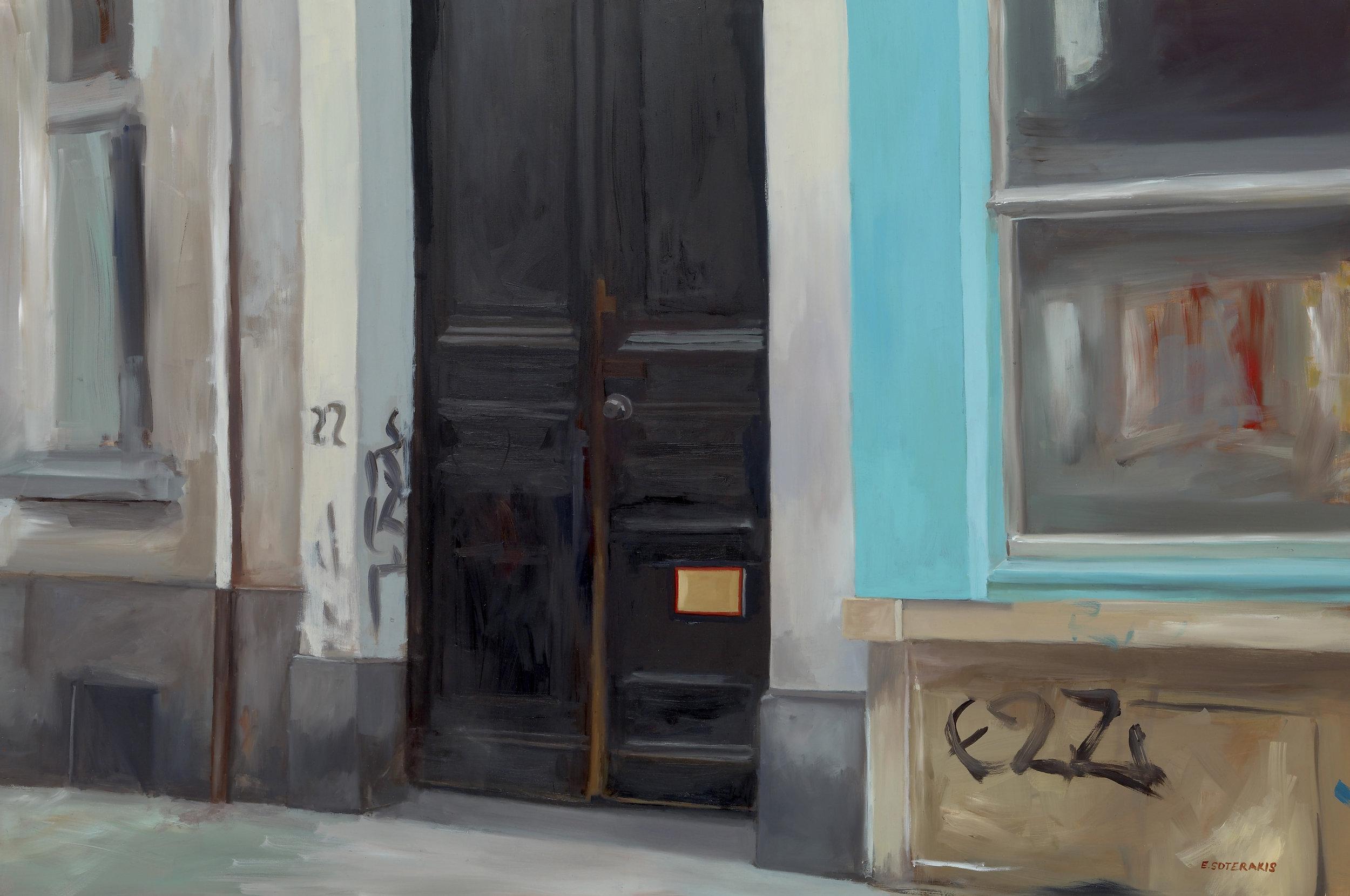 "Urban Entry Oil on panel 20"" x 30"""
