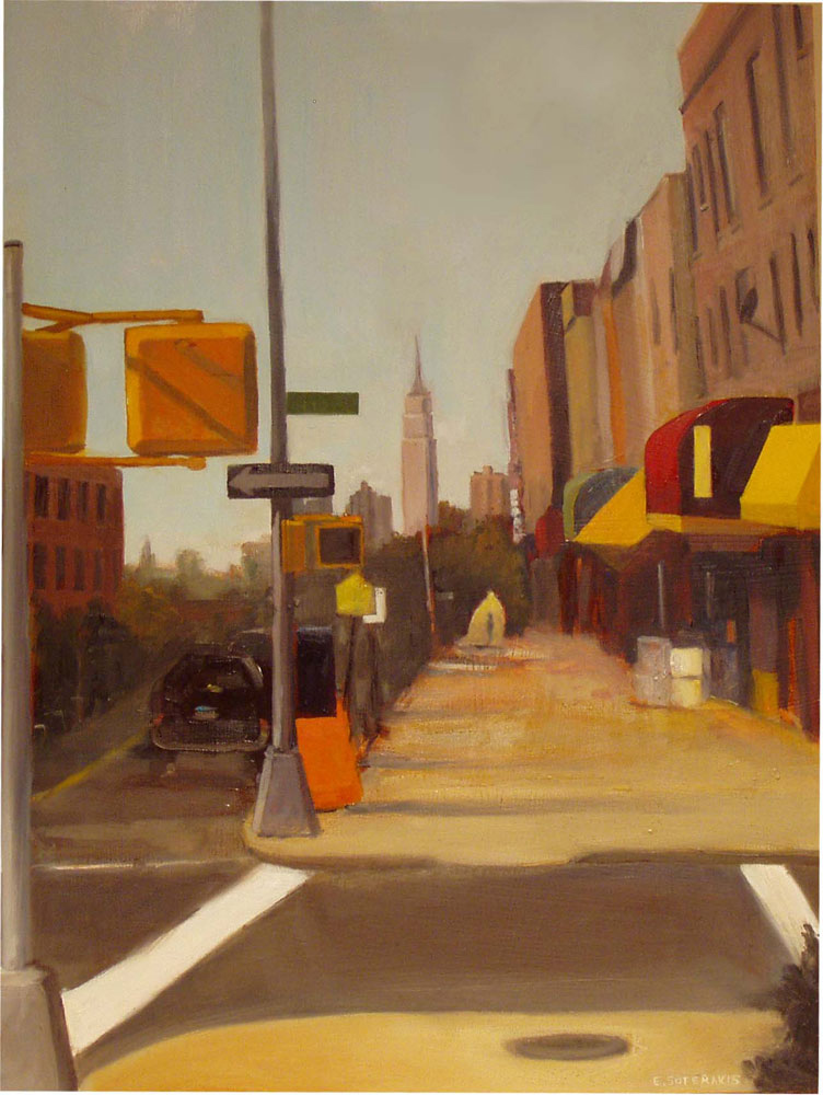 """View from 40th Street Oil on panel 24"""" x 18"""""""