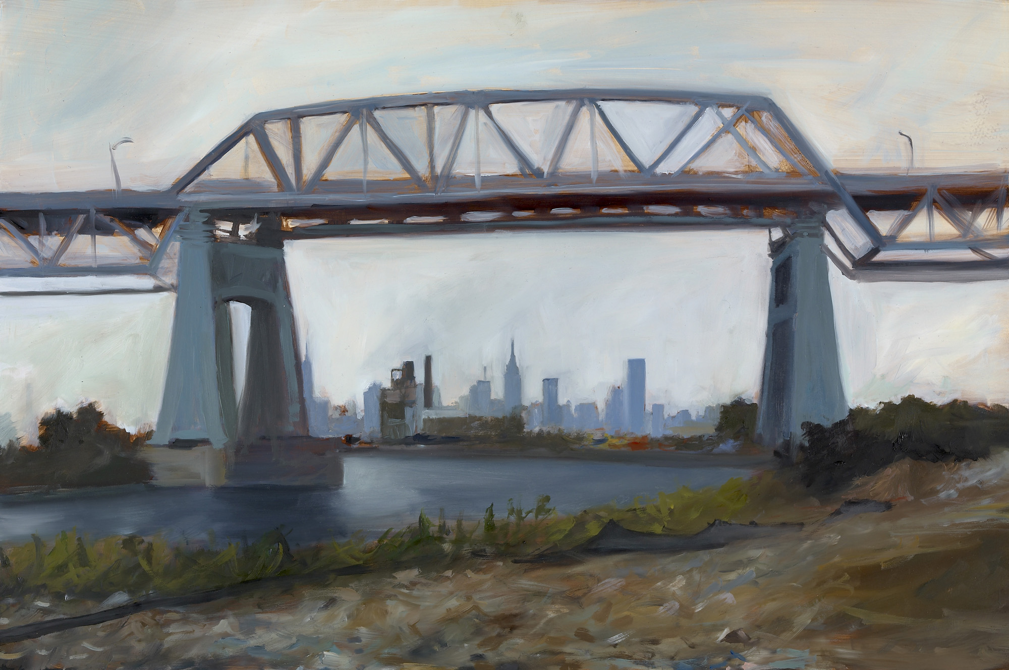 "Kosciusko Bridge Oil on panel 12"" x 18"""