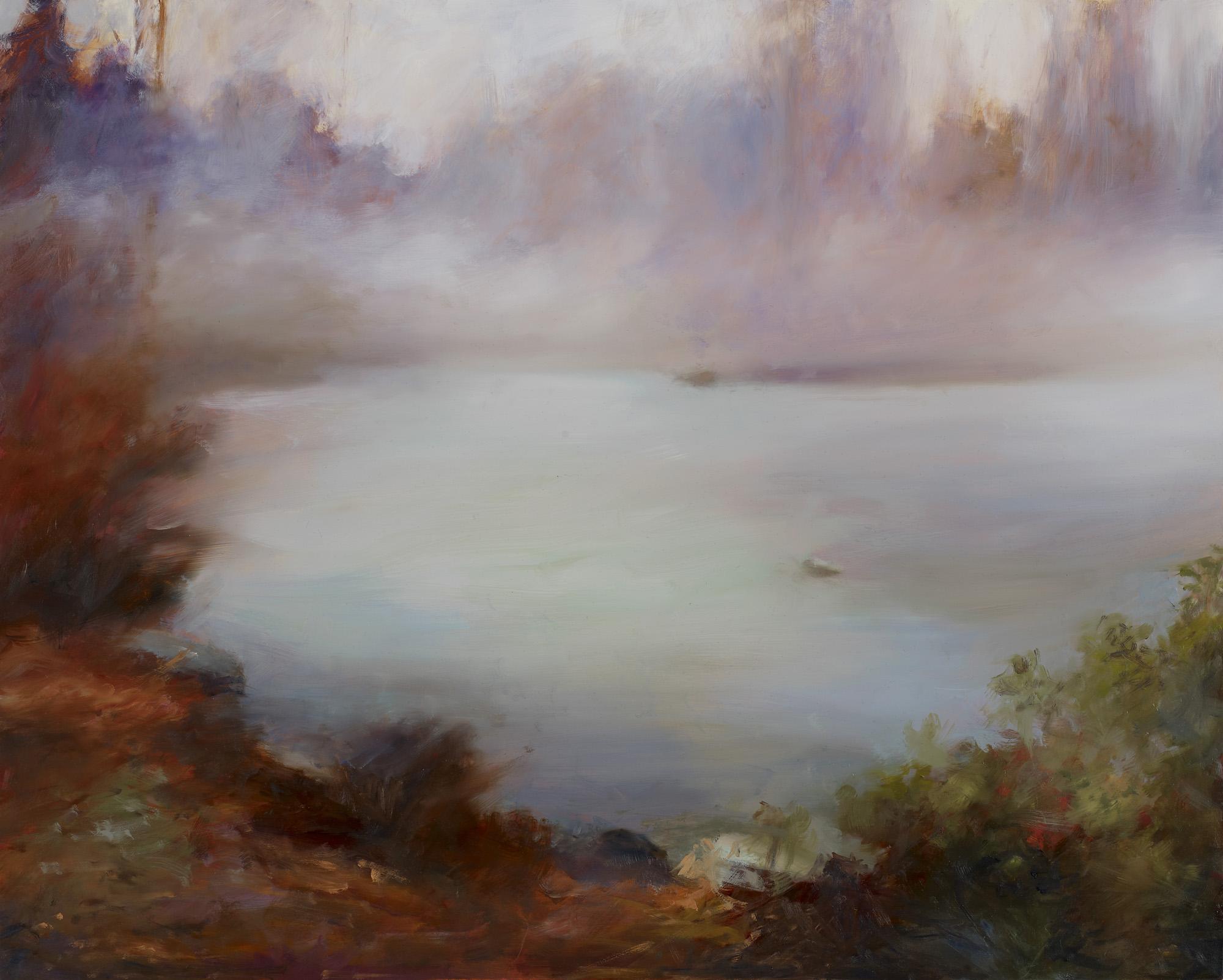 """Morning Fog Oil on panel 24"""" x 30"""""""