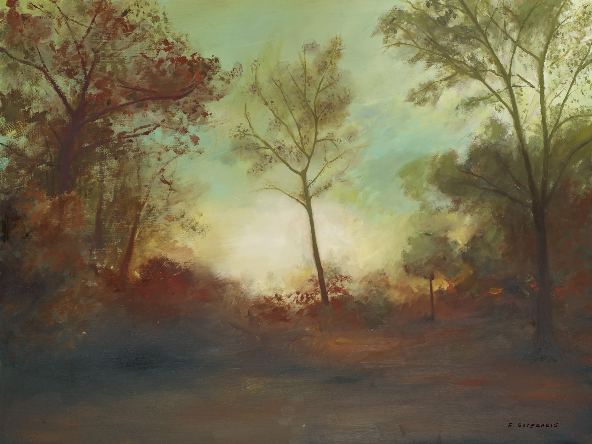 """Autumn Oil on panel 16"""" x 20"""""""