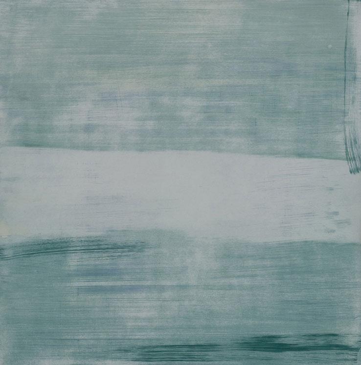 Marine , 2010; oil on wood, 8 x 8 in.