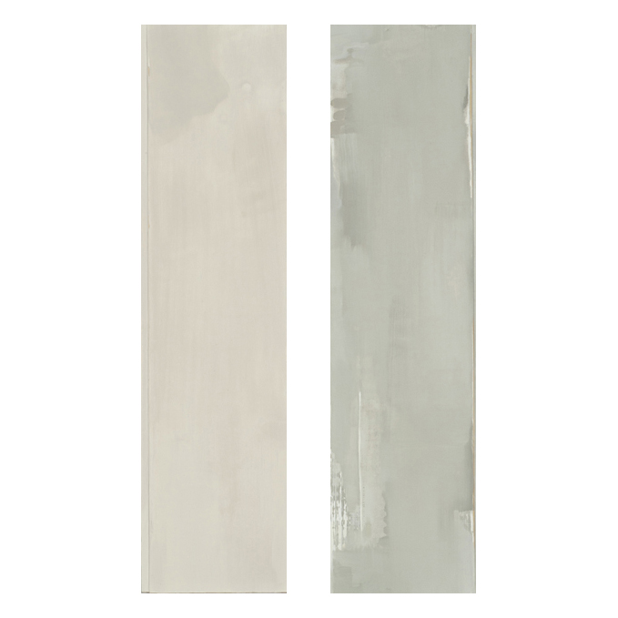 Winter  (left) and  Lifting  (right), 2011, oil on wood panel