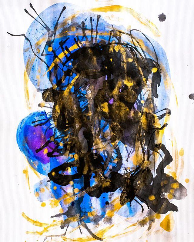 """Melt"" (Acrylic on Paper) . . . #artistlife #artwork #art #artist #painter #painting #artonpaper #acrylic #acrylicpainting #acryliconpaper #abstractpainting #abstract #abstractart #sfartist #californiaartist #sanfranciscoartist #bayareaart #americanartist #inspiremyinstagram #artistsoninstagram #instaart #artoftheday #artcollector #originalart #contemporaryartist #saatchiartist #contemporaryart #fineart #modernart #gaylemidnight"