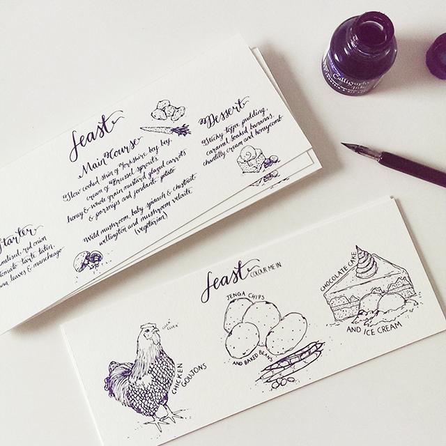 custom-menu-wedding-stationery-handdrawn-illustrated-pen-and-ink-calligraphy-curioume-design.jpg