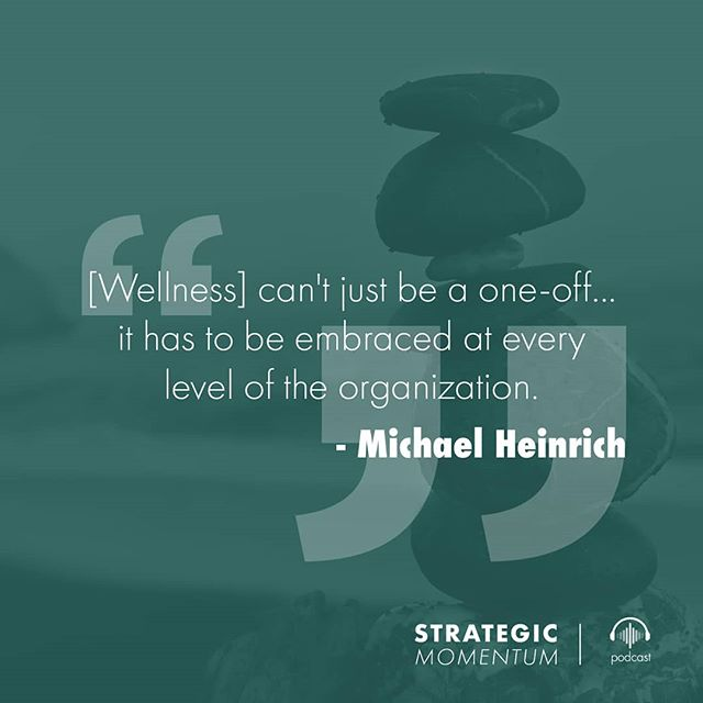 How do you #workhappy and achieve #wellness in the workplace? @ohmygreenhq founder Michael Heinrich shares his insights tomorrow on the Strategic Momentum Podcast.  Follow the link in our bio to subscribe!  #workplacewellness #workplace #healthyliving #happy #biztips #quotes #careeradvice #podcast