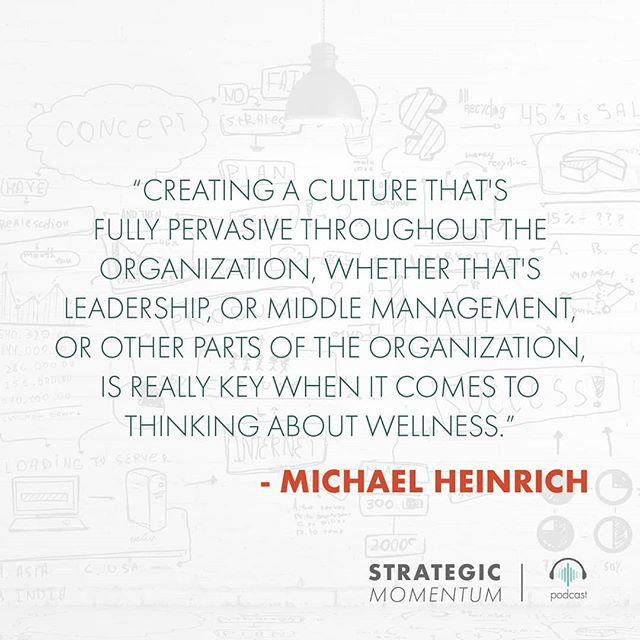 Create a culture of wellness at all levels of your business.  For more #insights on making a positive work environment, check out our latest podcast with Michael Heinrich of @ohmygreenhq. Link in bio.  #healthyfood #healthylifestyle #work #workhappy #career #careercoach #careeradvice #advice #wellness #sundaymotivation