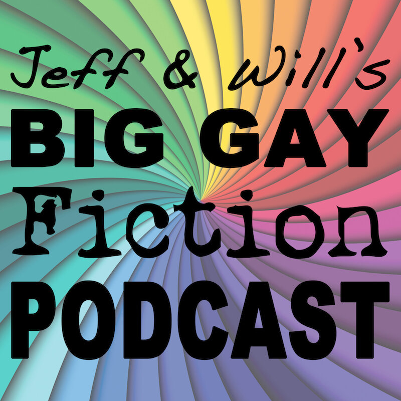 The cover art for the big gay fiction podcast.
