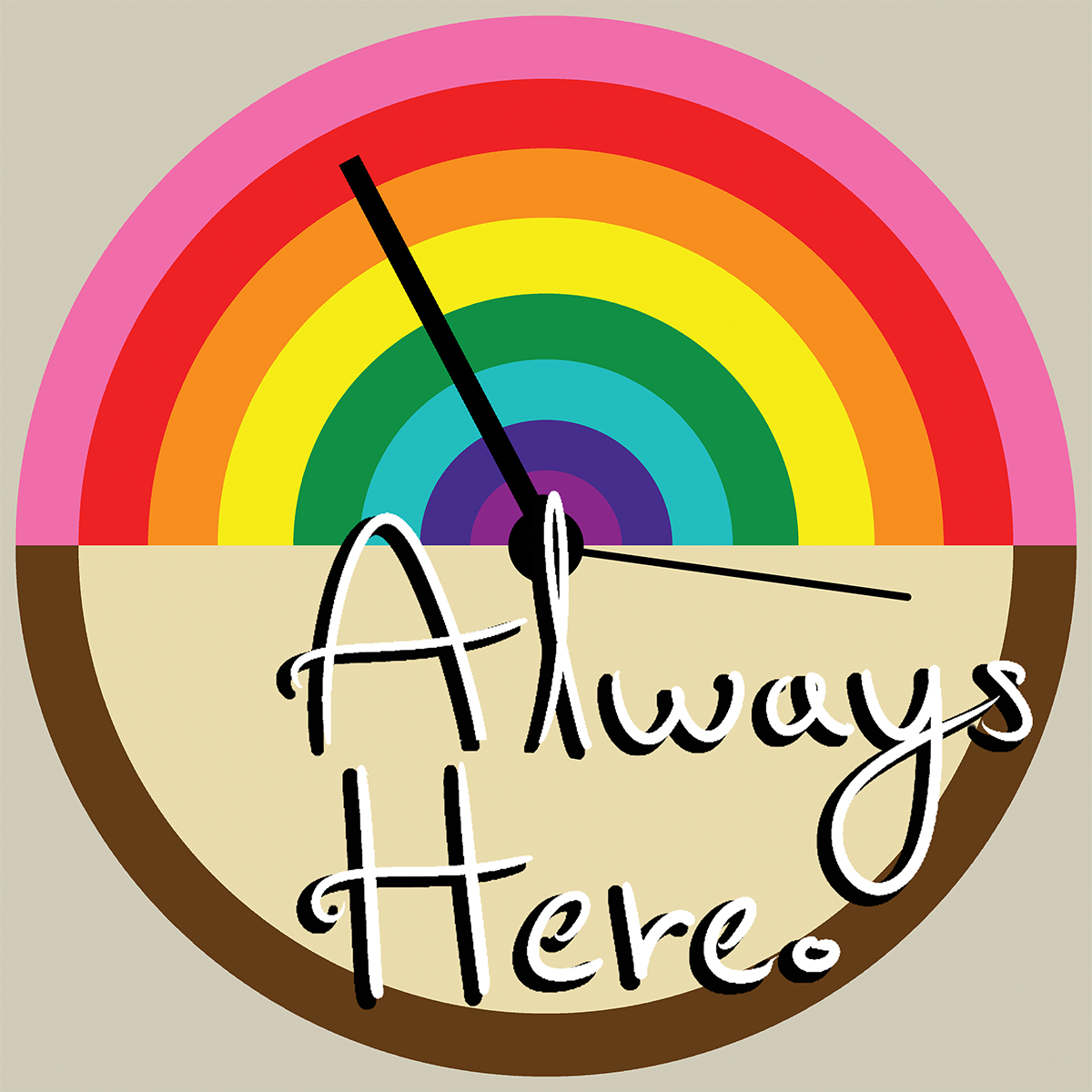 The Always here Podcast Cover Art.