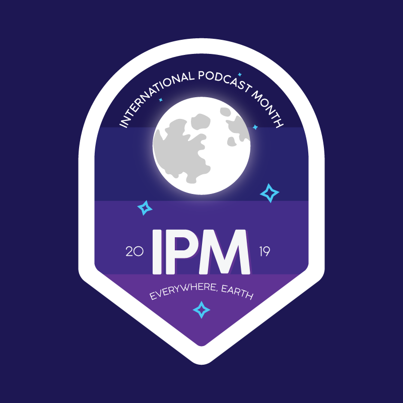 The cover art for the International Podcast Month podcast feed.