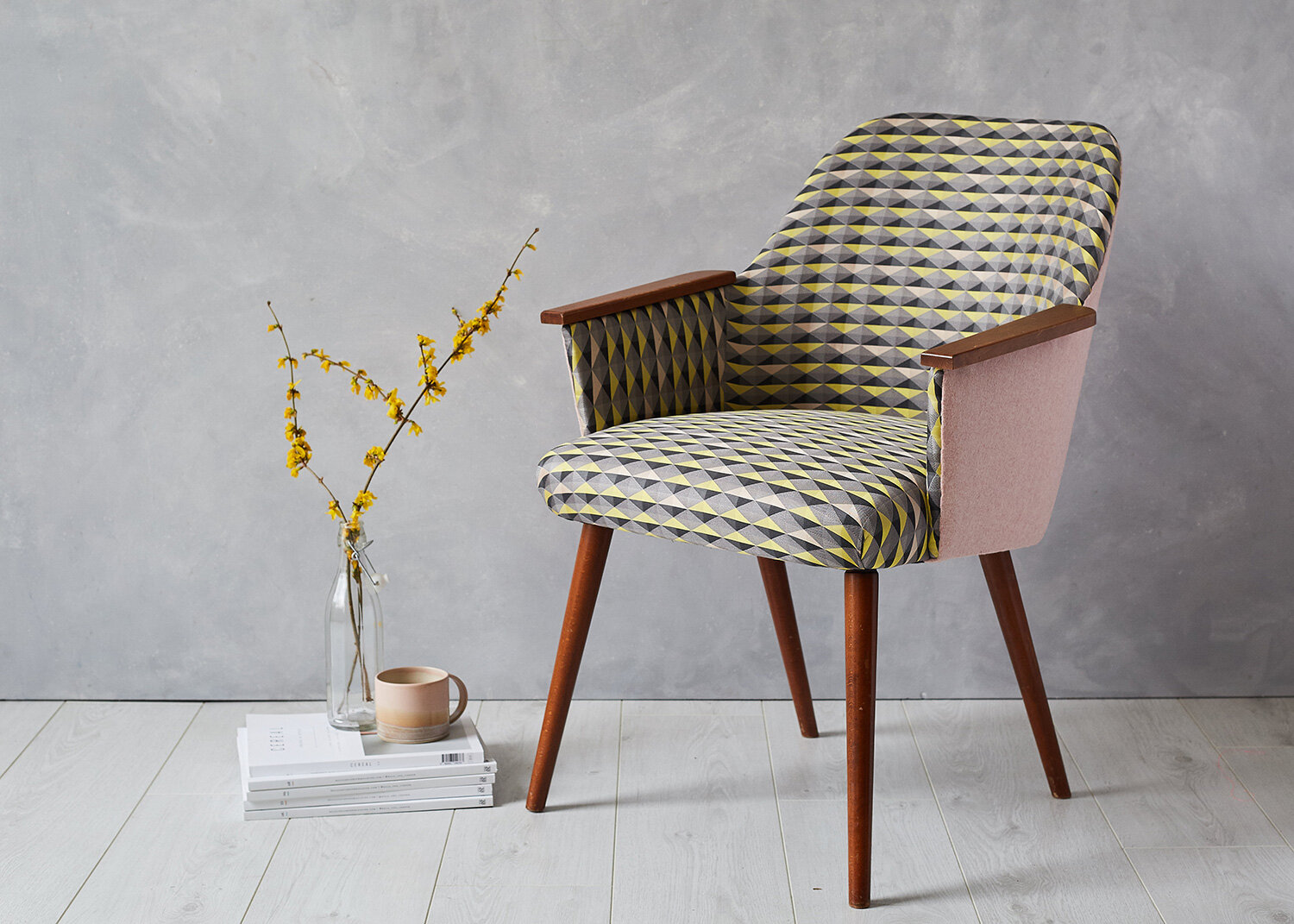 Shaded Triangles Jacquard Chair