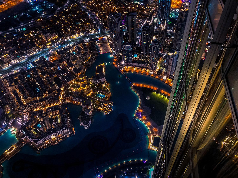 Vista desde el mirador del Burj Khalifa, el rascacielos más alto del mundo