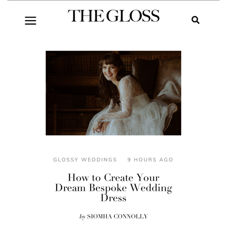 Bespoke Bridal Featured On The Gloss