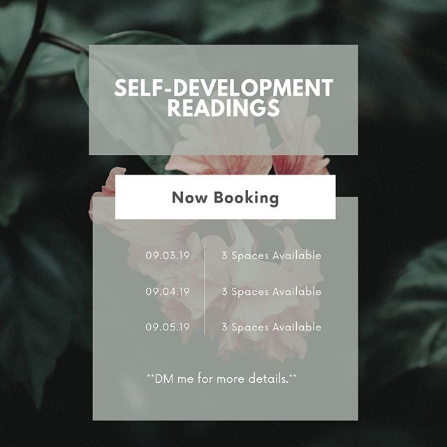 I have spaces available for next week. Send me a DM for details on how to book.  If you're curious about what a Self-Development Reading is check out my previous FAQ post. 🌺Miracles & Blessings🌺  __________________________________________________  #tarotcardreadings #cardreadings #intuitivereadings #dailyreadings #spiritualreadings #selfdevelopmenttools #tarotreadingsonline #spiritualquotes #spiritualjourney #spiritualgrowth