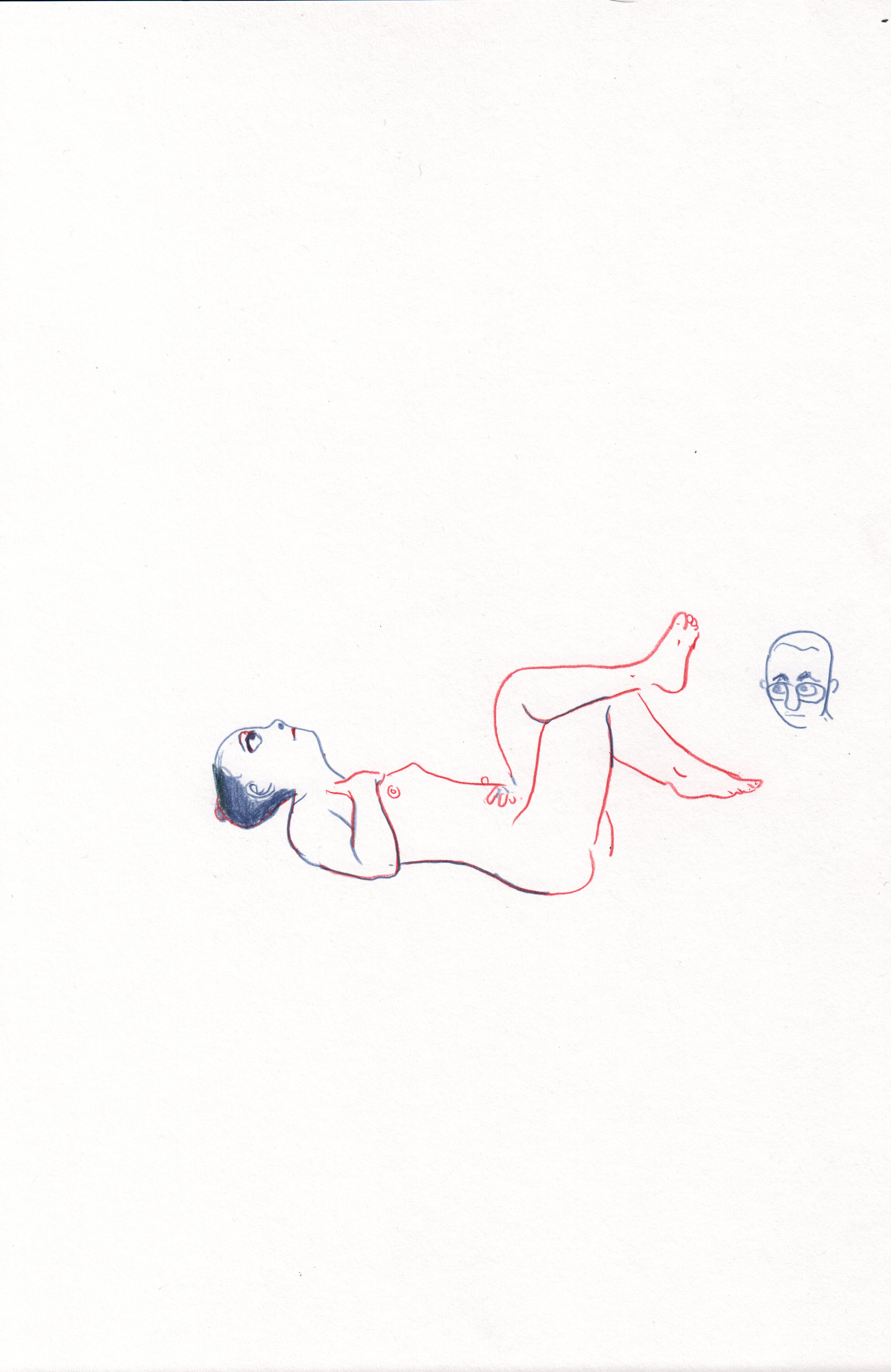 Man Drawing a Nude Woman (2)
