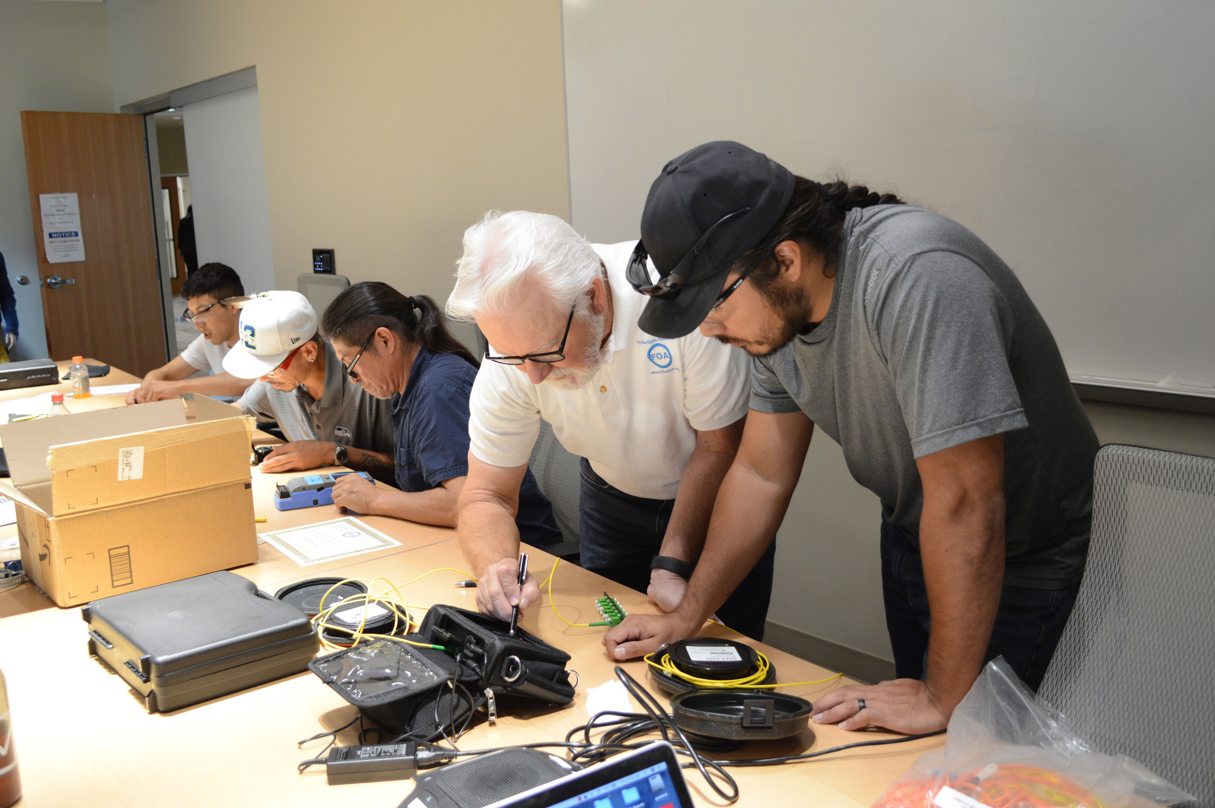 FOA Certified Fiber Optic Specialist, Splicing (CFOS/S) always bundled with (CFOS/T)4-Day Course - FOA Certified Fiber Optic Specialist, Splicing (CFOS/S) Bundled with (CFOS/T)CFOS/S - Certified Fiber Optic Specialist, Splicing is the FOA certification for technicians splicing primarily outside plant (OSP) fiber optic cable plants for concatenation and termination. The skills focus includes cable preparation of numerous cables, fusion splicing fibers, placing splices in splice trays and then placing trays in splice closures. Splice testing with an OTDR is also covered.