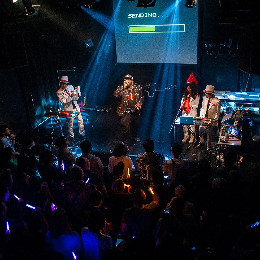 YMCK  with guest artist  Mega Ran