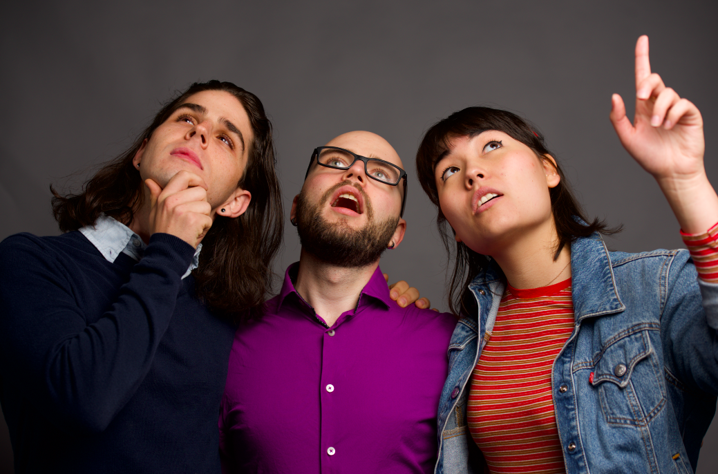 Left to right: Joseph Bricker, Michael Wolfe & Lily Yasuda. Photography by  Peach Studios .