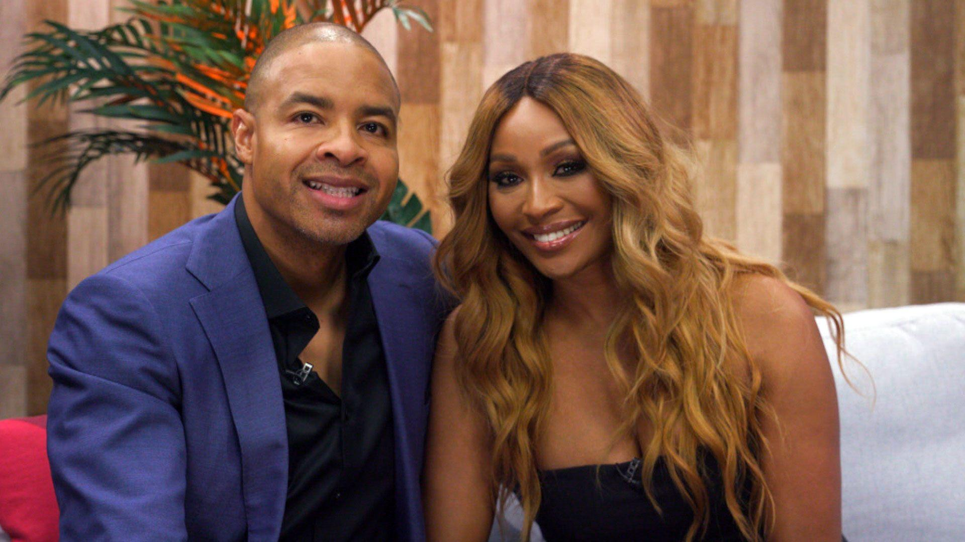 Mike Hill and his fiancee Cynthia Bailey of  Real Housewives of Atlanta