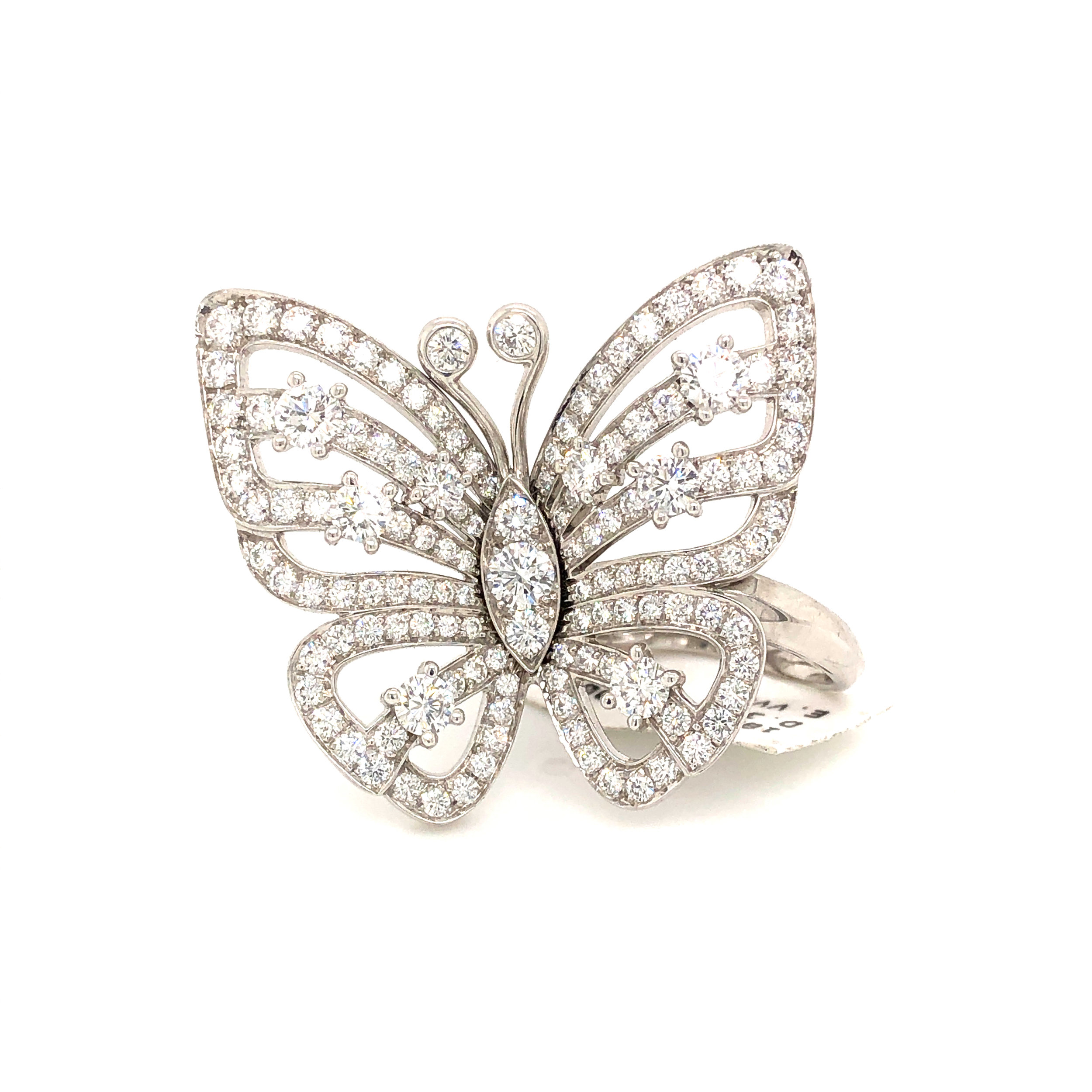 Butterfly Ring, 18kt White Gold & Diamond,  Van Cleef & Arpels   Est. US$ 27,000-31,000