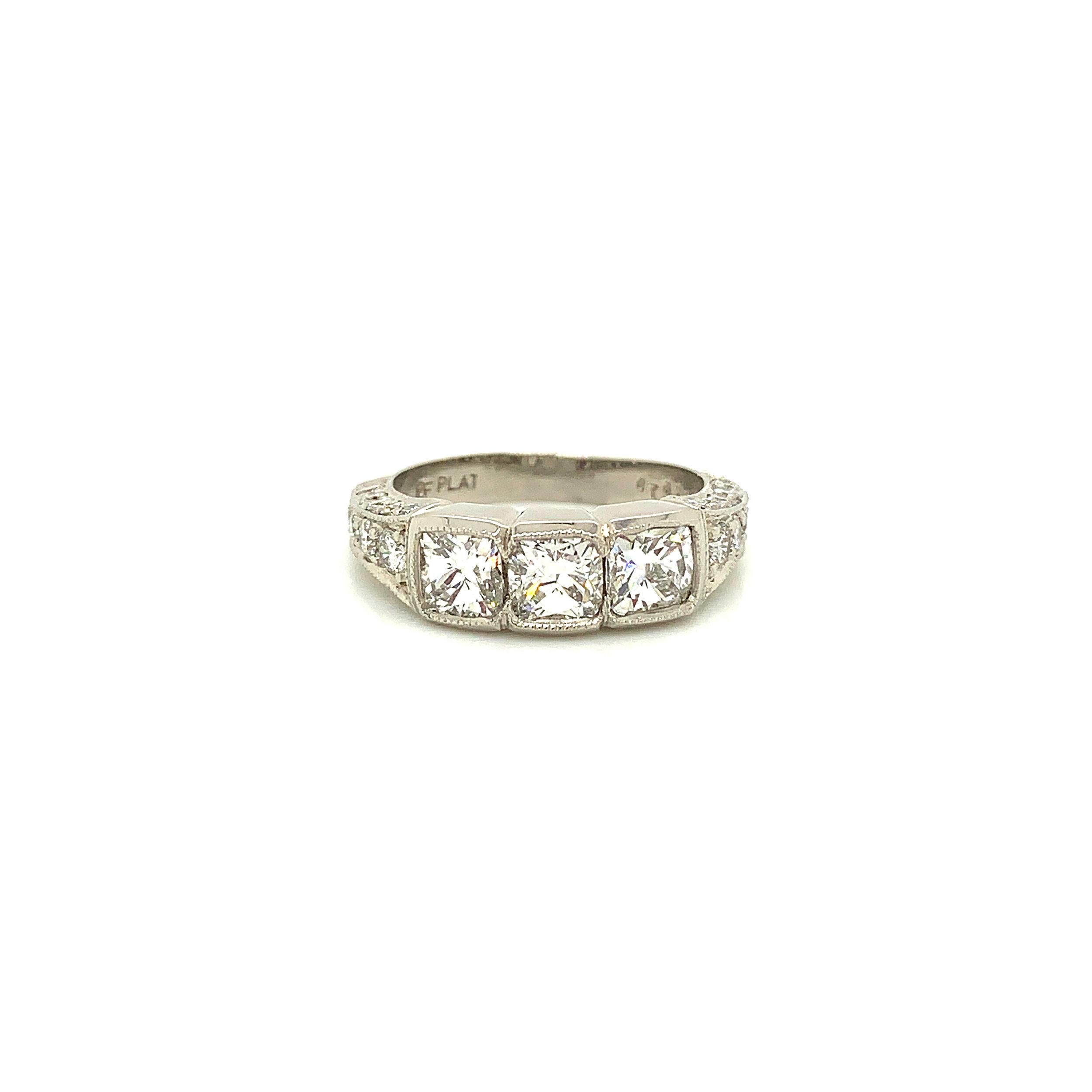 Vintage 2.20ct Diamond Band Ring Set in Platinum, Martin Flyer  Est. US$ 5,000-7,000