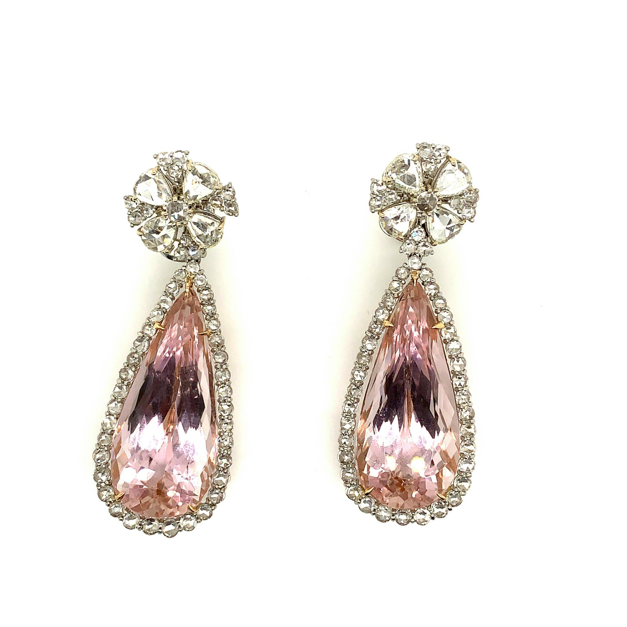Kunzite & Diamond Earrings   Est. US$ 8,000-10,000
