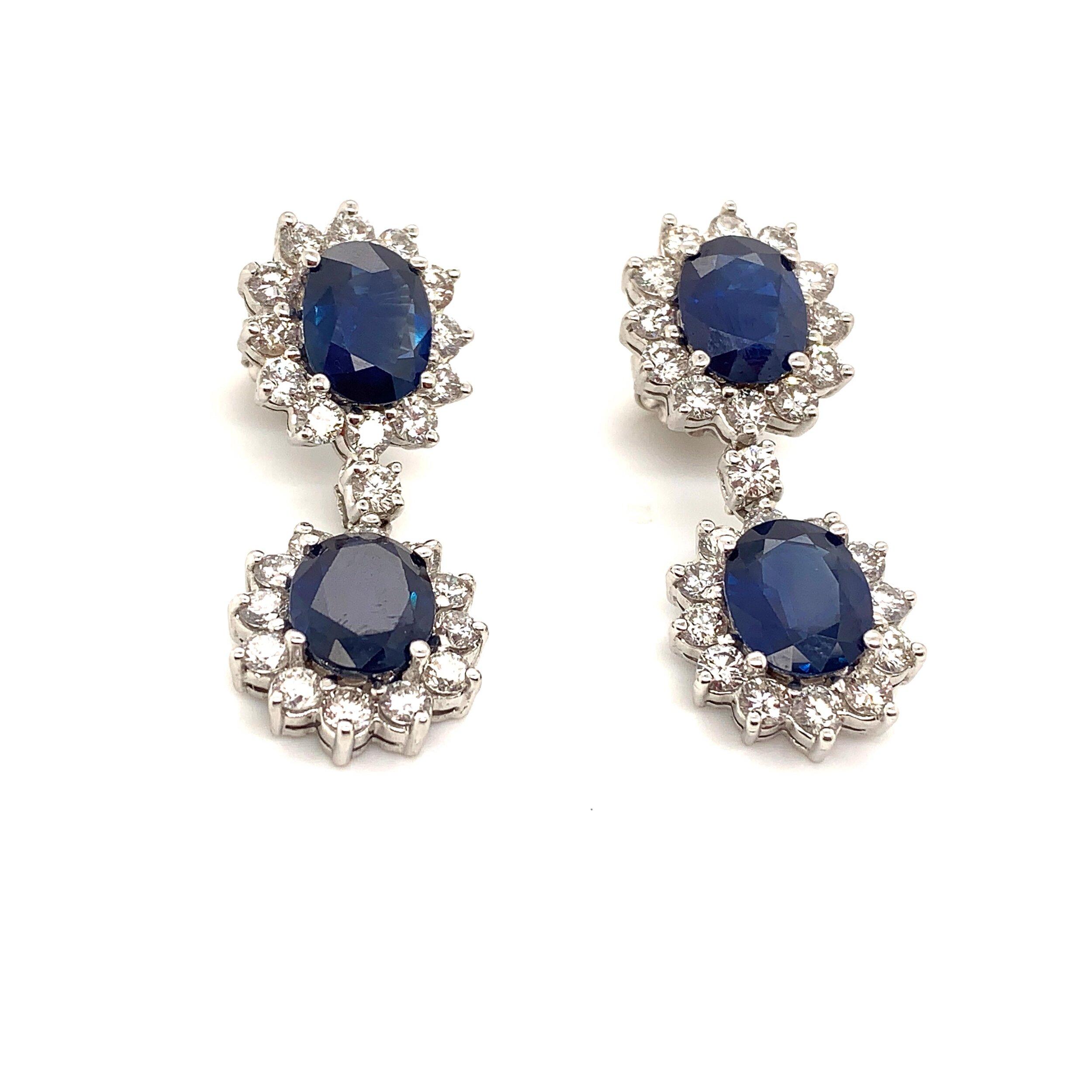 18k White Gold Earrings   Est. US$ 8,500-9,500