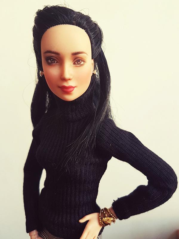 Barbie Earrings for OOAK Made to Move Black Hair Barbie, Eve, Plastically Perfect 03.jpg