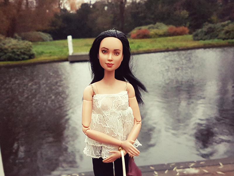 OOAK Made to Move Black Hair Barbie, Eve, Plastically Perfect - OOTD Layers & Lace 002.jpg