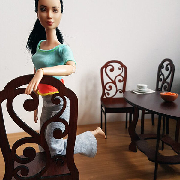 Dining Set, Not Quite Playscale - Plastically Perfect - Barbie Diorama Gear 05.jpg