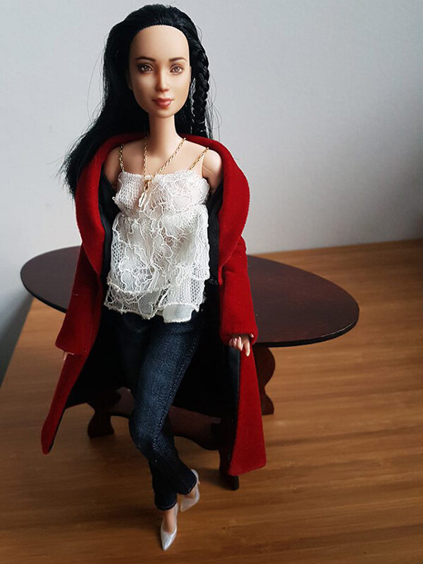 OOAK Made to Move Black Hair Barbie, Eve, Plastically Perfect - OOTD holiday cheer, post holiday 02.jpg