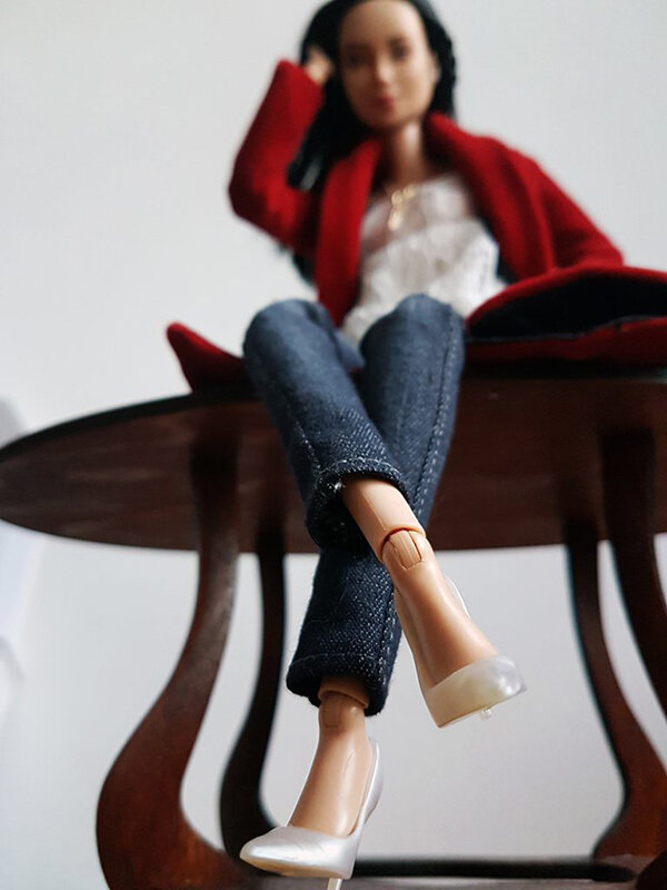 OOAK Made to Move Black Hair Barbie, Eve, Plastically Perfect - OOTD holiday cheer, post holiday 03.jpg