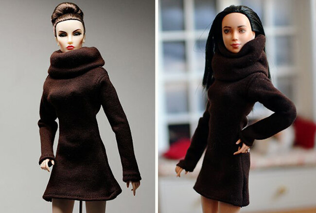 OOAK Made to Move Black Hair Barbie, Eve, Plastically Perfect - OOTD - Gamble 01.jpg
