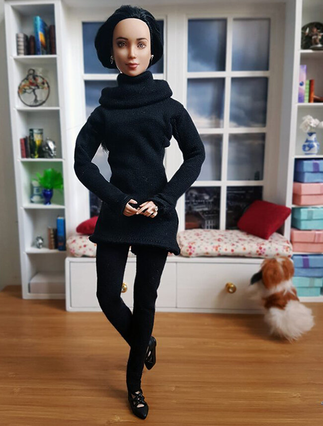 OOAK Made to Move Black Hair Barbie, Eve, Plastically Perfect - OOTD - Gamble 02.jpg