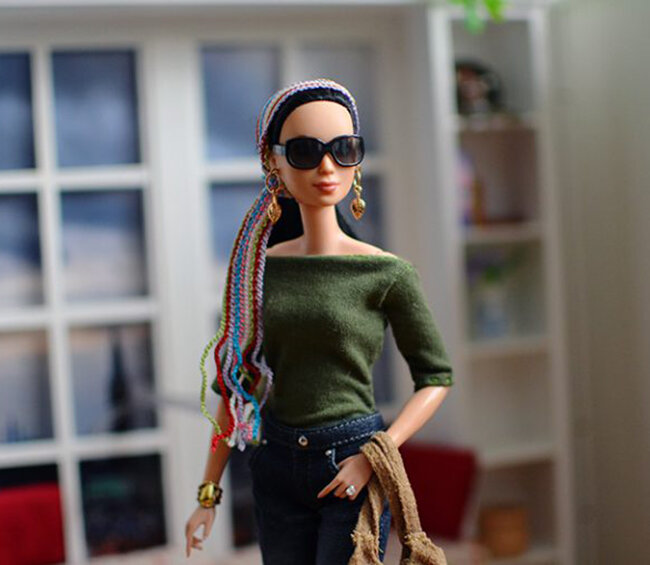 OOAK Made to Move Black Hair Barbie, Eve, Plastically Perfect - OOTD - Bohemian Spring 03.jpg