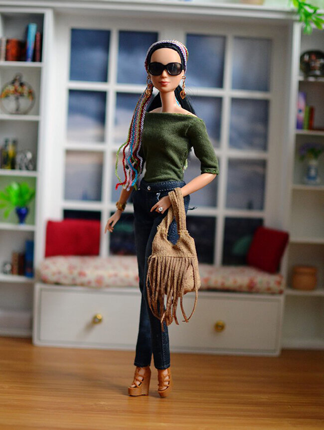 OOAK Made to Move Black Hair Barbie, Eve, Plastically Perfect - OOTD - Bohemian Spring 02.jpg