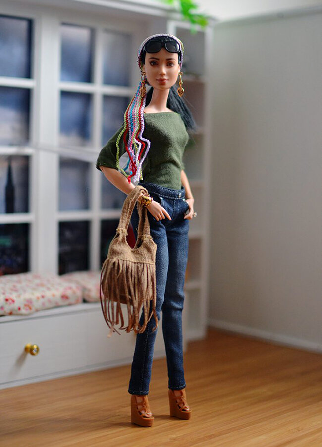 OOAK Made to Move Black Hair Barbie, Eve, Plastically Perfect - OOTD - Bohemian Spring 05.jpg