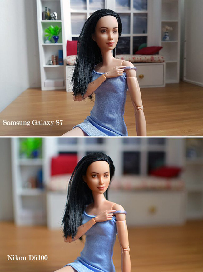 OOAK Made to Move Black Hair Barbie, Eve, Plastically Perfect - Samsung S7 v Nikon D5100 01.jpg