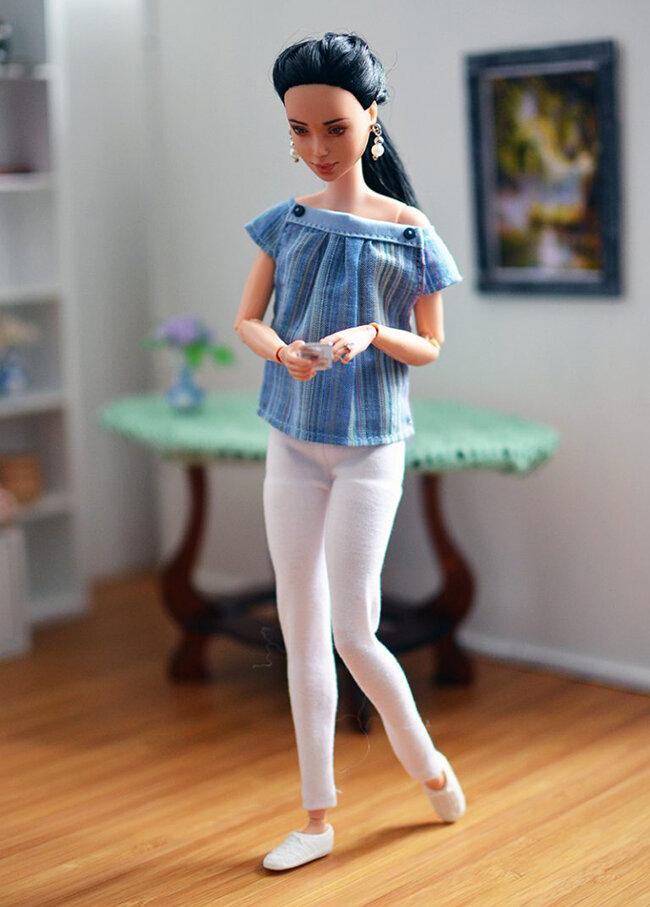 OOAK Made to Move Black Hair Barbie, Eve, Plastically Perfect - OOTD - Easter Pastels 01.jpg
