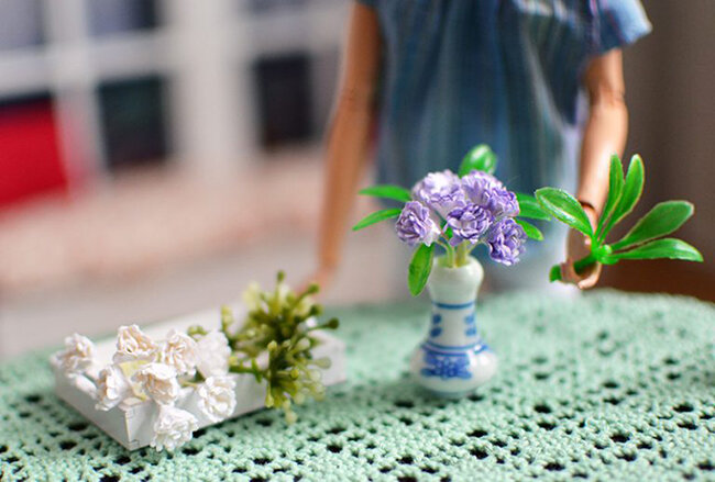 OOAK Made to Move Black Hair Barbie, Eve, Plastically Perfect - OOTD - Easter Pastels Diorama 01.jpg