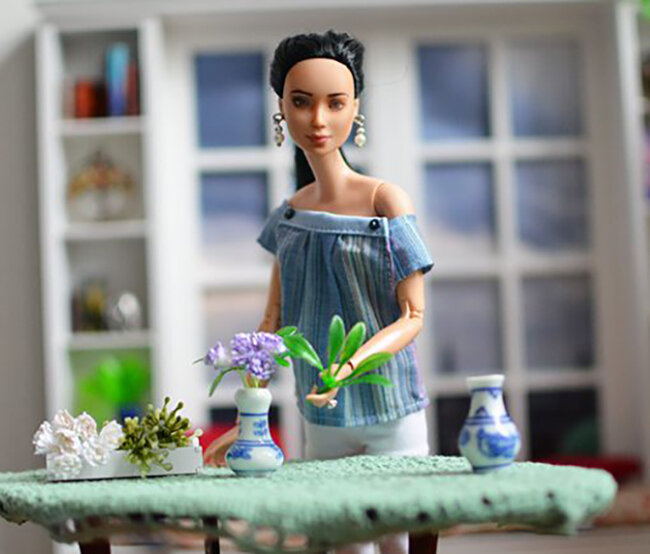 OOAK Made to Move Black Hair Barbie, Eve, Plastically Perfect - OOTD - Easter Pastels 03.jpg