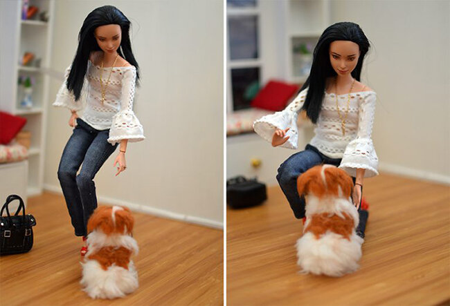 OOAK Made to Move Black Hair Barbie, Eve, Plastically Perfect - OOTD - Pointelle Statement Sleeves 05.jpg