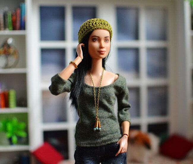 OOAK Made to Move Black Hair Barbie, Eve, Plastically Perfect - OOTD - Dream of Denim 05.jpg