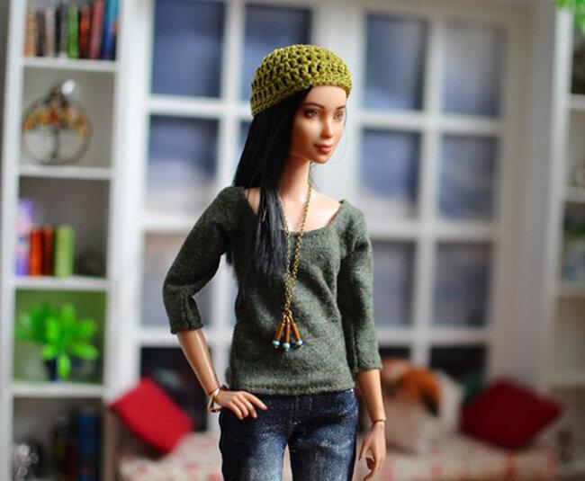 OOAK Made to Move Black Hair Barbie, Eve, Plastically Perfect - OOTD - Dream of Denim 03.jpg